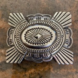 Accessories - Vintage Sterling Silver Belt Buckle